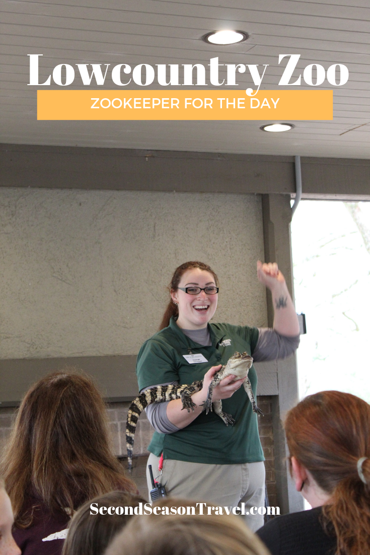 Zookeeper for the day at Brookgreen Gardens